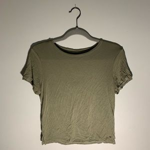 American Eagle soft & sexy collection cropped tee